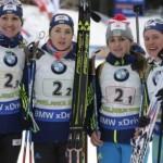 Украинские биатлонистки выиграли серебро в чемпионате мира-2017