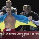 Черновчанин Александр Тесленко выиграл бой на профи-ринге в США