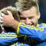 Сборная Украины победила Македонию в Львове