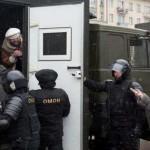 В сети появилось видео процесса задержаний в Минске, снятое беспилотником