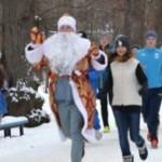 В первый день нового года в Черновцах провели оздоровительный пробег