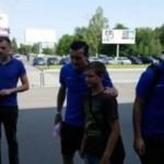 Украинский Днепр прибыл в Варшаву, где завтра сыграет в финале Лиги Европы
