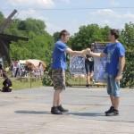 Черновчан развлекали показательным выступлением по панкратиону